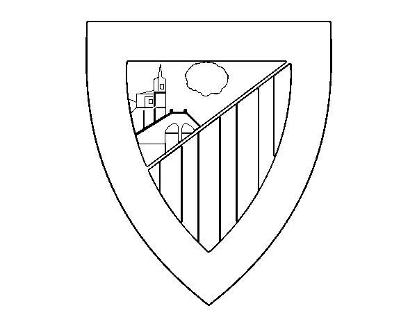 Athletic Club crest coloring page