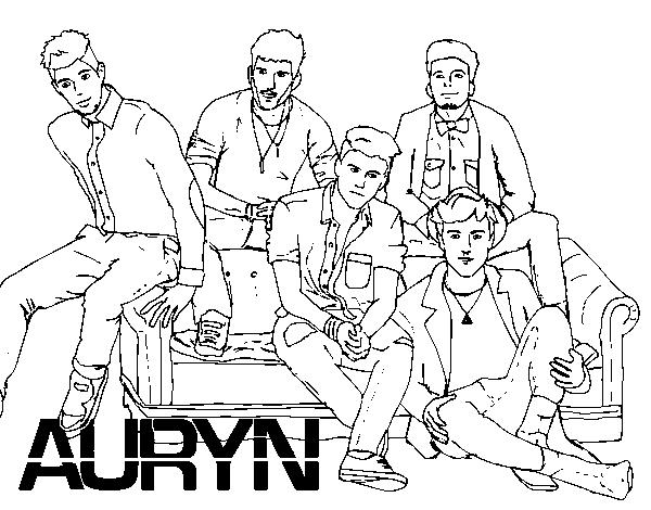 Auryn Boyband Coloring Page