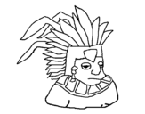 Aztec coloring page