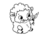 Baby sheep coloring page