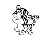 Baby tiger coloring page