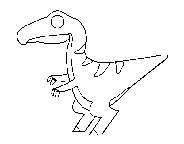 Baby velociraptor coloring page
