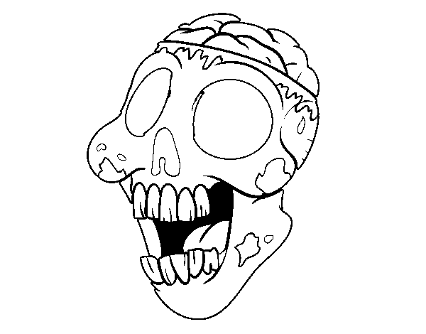 Bad zombie coloring page
