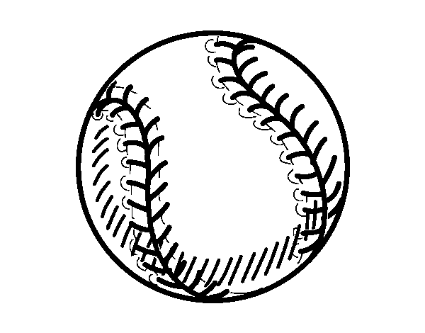 Ball of beisbol coloring page