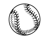 Dibujo de Ball of beisbol