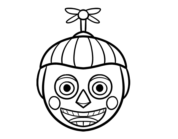 Balloon Boy From Five Nights At Freddy S Coloring Page