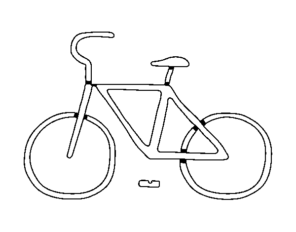 Basic bike coloring page