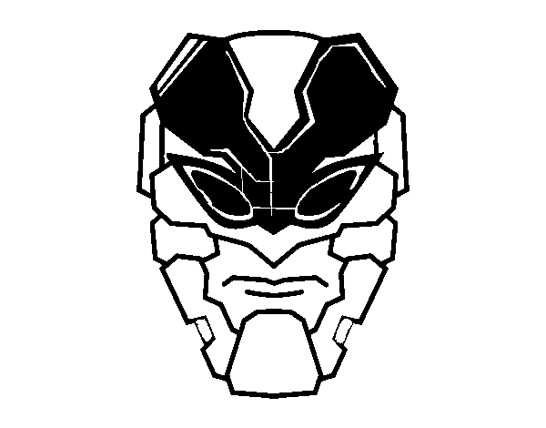 Bee man mask coloring page