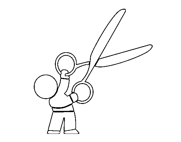 Big scissors coloring page