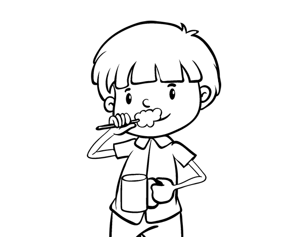 Brushing the teeth coloring page - Coloringcrew.com