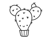 Cactus pear coloring page