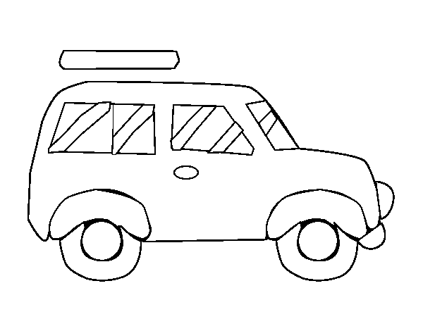 Car roof rack coloring page