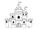 Castle princesses coloring page