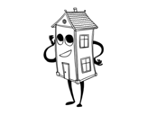 Charming house coloring page