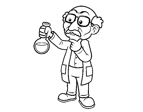 Chemist coloring page