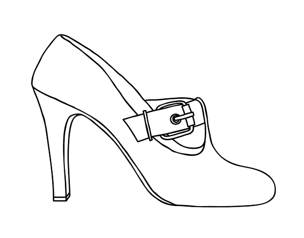 Chic shoes coloring page - Coloringcrew.com