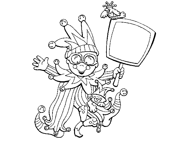 Child carnival coloring page