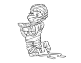 Dibujo de Child dressed as a mummy