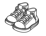 Children slippers coloring page