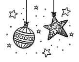 Dibujo de Christmas ornaments