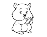 Chubby hamster coloring page