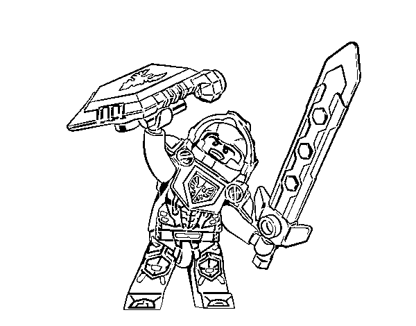 Clay Nexo Knights coloring page