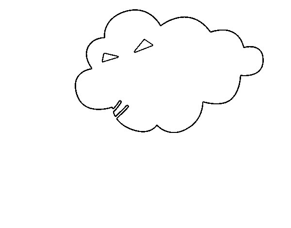 Cloud blowing coloring page