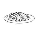 Combo plate coloring page