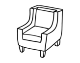 Comfortable armchair coloring page