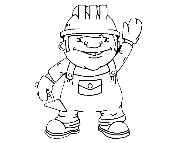 Construction worker coloring page - Coloringcrew.com