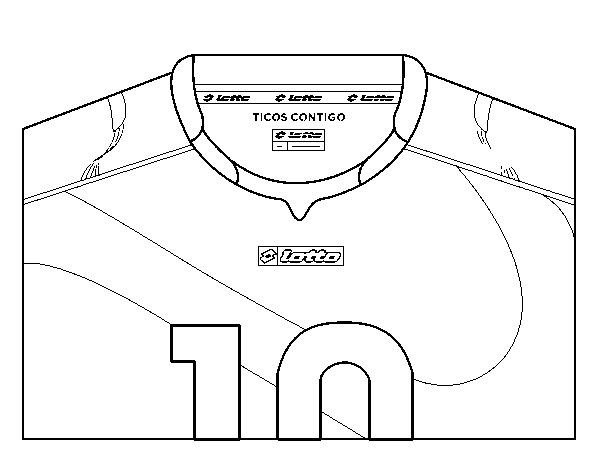 Costa Rica World Cup 2014 t-shirt coloring page