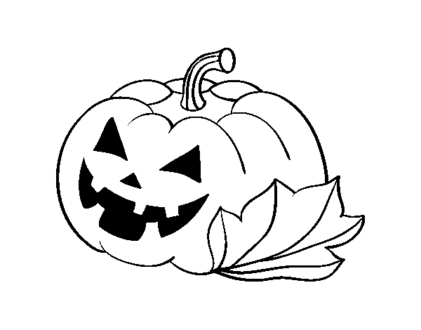 decorated halloween pumpkin coloring page coloringcrew com