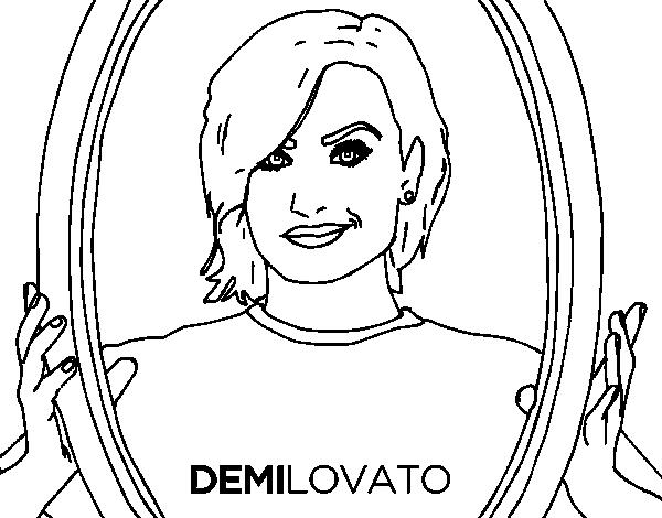 Demi Lovato Popstar coloring page - Coloringcrew.com