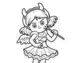 Devil costume coloring page