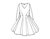 Dibujo de Dress with full skirt