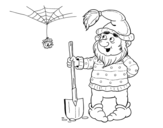 Dwarf miner coloring page