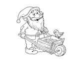 Dwarf with wheelbarrow coloring page
