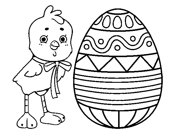 Easter drawing coloring page