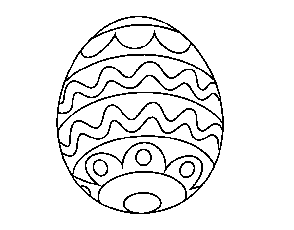 Easter egg for kids coloring page