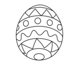 Easter egg infant coloring page