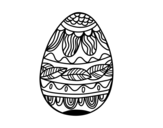 Easter egg with vegetable pattern coloring page