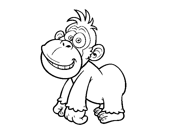 Eastern gorilla coloring page