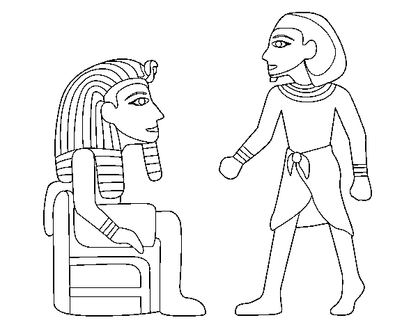 Egyptian kings coloring page
