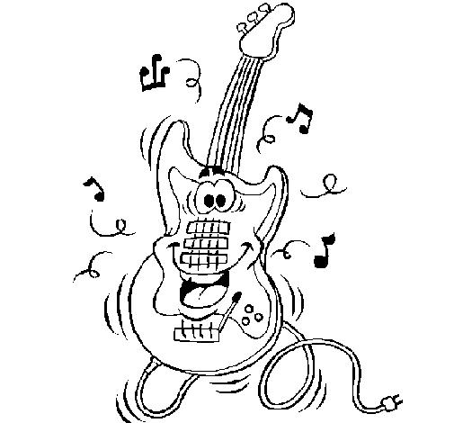 Electric guitar coloring page - Coloringcrew.com