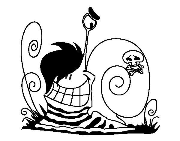 Emo snail coloring page - Coloringcrew.com