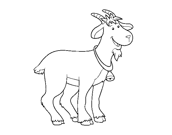 Farm goat coloring page