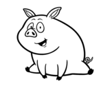 Farm pig coloring page