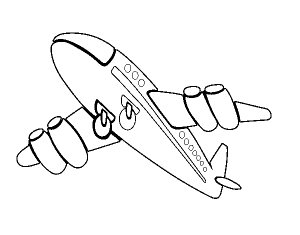 Fast airplane coloring page