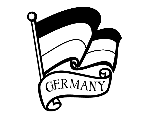 Flag of Germany coloring page - Coloringcrew.com