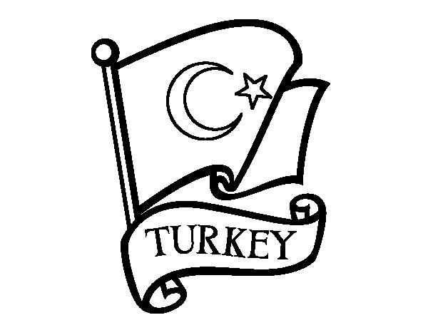Flag of Turkey coloring page - Coloringcrew.com
